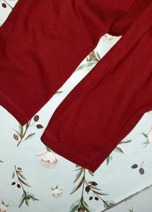 🌿1+1=3 стильный красный тонкий свитер с напуском на груди zara, размер 46 - 486 фото