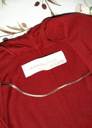 🌿1+1=3 стильный красный тонкий свитер с напуском на груди zara, размер 46 - 488 фото