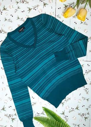 🌿1+1=3 насыщенный качественный зеленый свитер с декольте debenhams, размер 46 - 48
