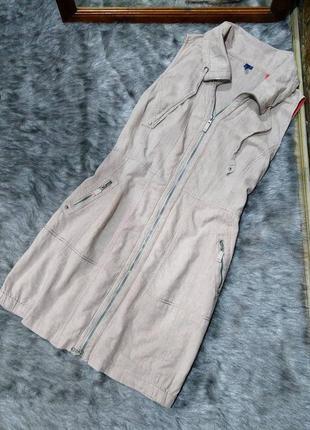 Платье из льна и коттона cecil