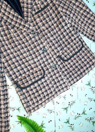🌿1+1=3 крутой трендовый твидовый пиджак c&a розовый + синий, размер 46 - 483 фото