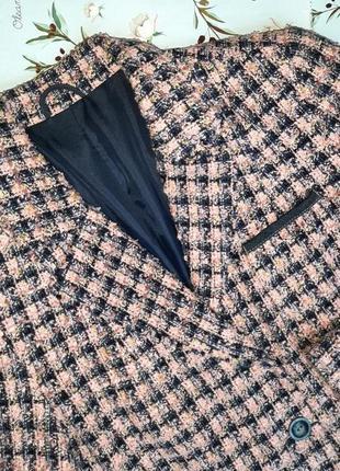 🌿1+1=3 крутой трендовый твидовый пиджак c&a розовый + синий, размер 46 - 485 фото