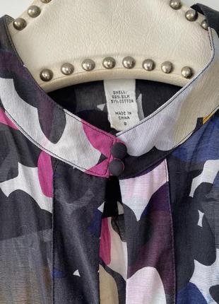 Шёлковая летняя блуза прозрачная легкая модный принт в цветы 💐 diane von furstenberg5 фото