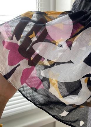 Шёлковая летняя блуза прозрачная легкая модный принт в цветы 💐 diane von furstenberg6 фото