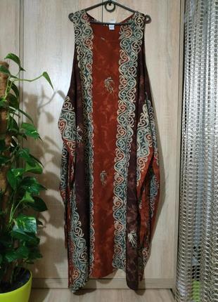 Классное натуральное платье - накидка бохо