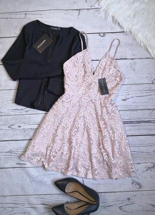 Новое кружевное платье цвета пепельной розы