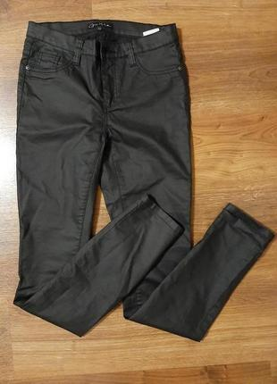 "Чорні штани ""під шкіру"" р. xs-s"