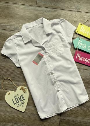 Рубашка matalan школьная белая 11-12л