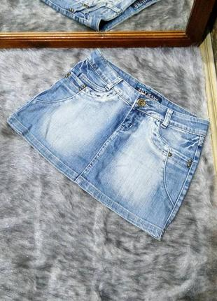 Джинсовая юбка из денима