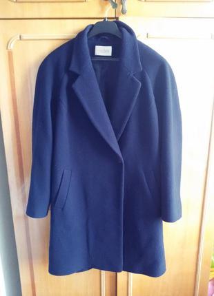 Трендовое шерстяное пальто -100% шерсть