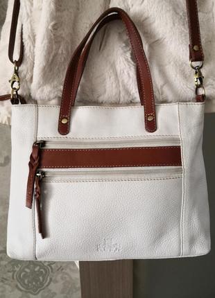 Красивая летняя кожаная сумка rowallan