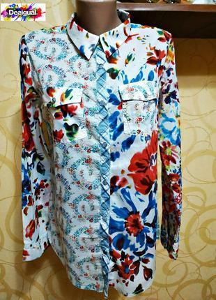 Женская рубашка desigual / рубашка с длинными рукавами