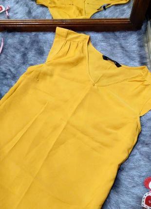 Блуза топ кофточка трендового желтого цвета peacocks2 фото