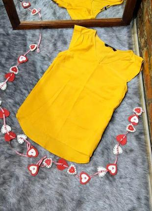 Блуза топ кофточка трендового желтого цвета peacocks1 фото