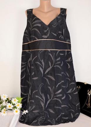 Брендовое нарядное макси платье monsoon вышивка лен шелк большой размер этикетка
