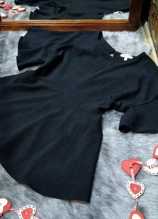 Блуза топ кофточка с баской и рукавами воланами papaya2 фото