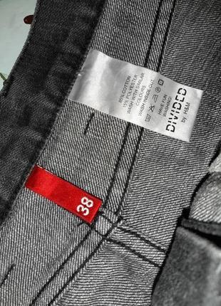 🎁1+1=3 крутая плотная черно-серая джинсовая юбка h&m с завышенной талией, размер 46 - 483 фото