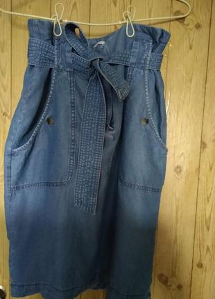 Шикарная джинсовая юбка