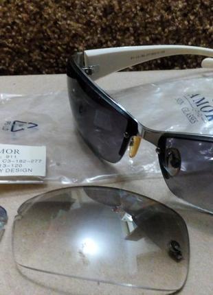 Солнцезащитные очки  со сменными линзами7 фото