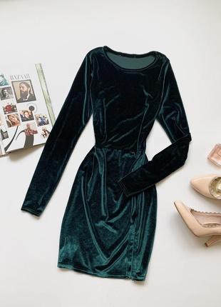Платье велюровое missguided