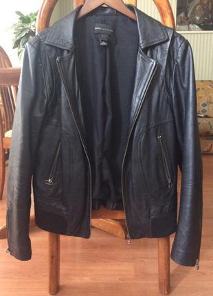 Кожаная куртка маngo
