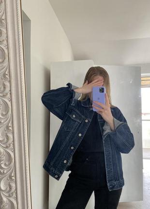 Винтажная джинсовка gap плотный деним l оверсайз