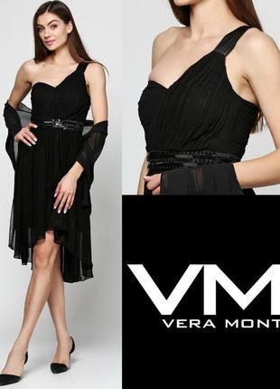 Платье чёрное шифоновое