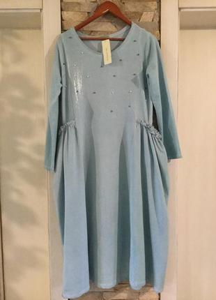 Стильное  трикотажное платье  от new collection. италия.