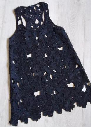 Платье поверх купальника, кружевной сарафан, пляжное платье, пляжный сарафан, туника