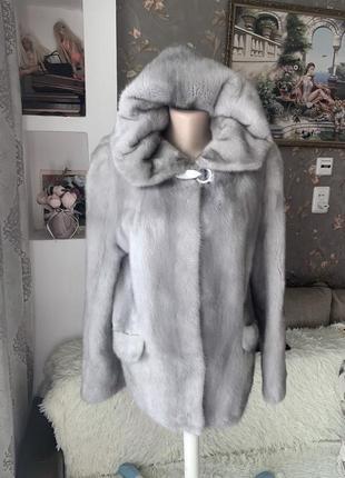 Роскошная норковая шуба капюшон нафа 38 р