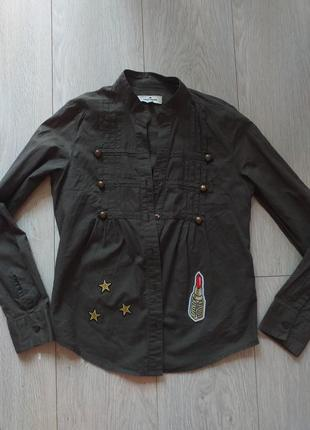 Рубашка самого модного цвета хаки