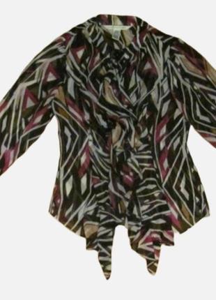 Рубашка блуза шёлк воланы diane von furstenberg