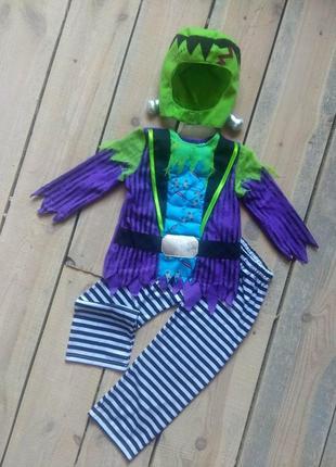 Карнавальный костюм франкенштейн маленький монстр 3-4 года на хэллоуин