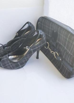 Комплект туфли женские на  каблуке+сумка1 фото