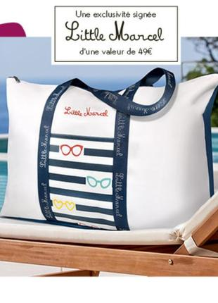 Скидка! практичная, стильная сумка для отдыха little marcel