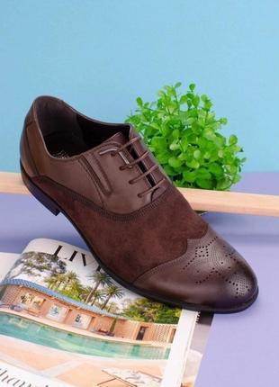 Мужские туфли коричневого цвета люкс
