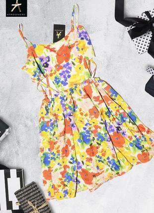 Яркое платье с разрезами по бокам atmosphere