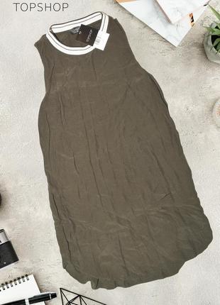 Новое платье цвета хаки topshop