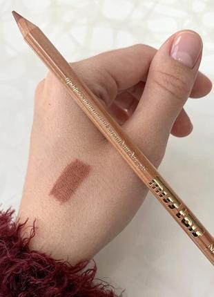 Матовый карандаш для губ от miss tais мисс таис чехия №765 натуральный нюдовый бежевый