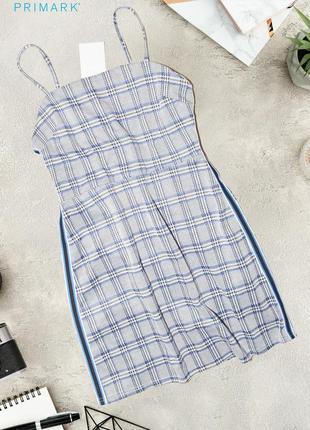 Новое платье в клетку с лампасами primark