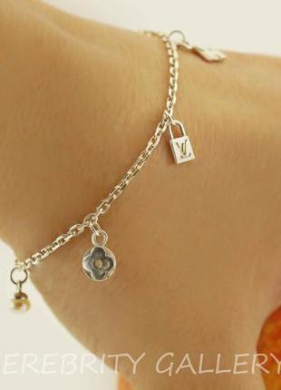 10% скидка подписчику браслет серебряный цепочка с подвесами i 562011 w 19 серебро 925