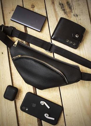 Новая стильная качественная сумка на пояс бананка pu кожа /через плечо / клатч