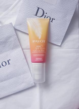 Масло для тела и волос солнцезащитное  payot sunny spf 15
