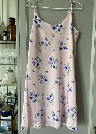 Ночная рубашка с цветочным принтом