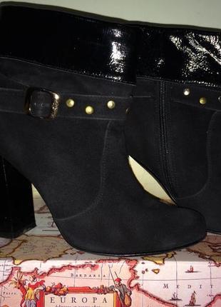 Осенние кожаные женские ботинки