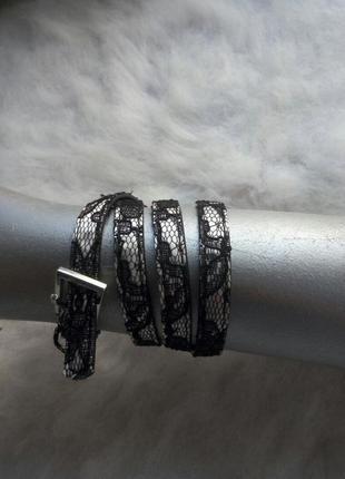 Тонкий ажурный поясок zara черный белый гипюр ремень zara пояс на талию