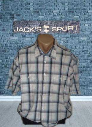 🎋🎋jack's sports оригинал хлопковая мужская рубашка короткий рукав xl германия🎋🎋