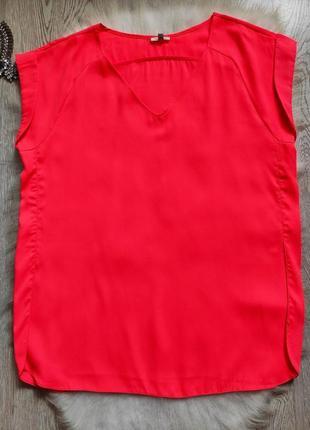 Розовая яркая длинная цветная блуза туника неон с вырезом декольте батал2 фото