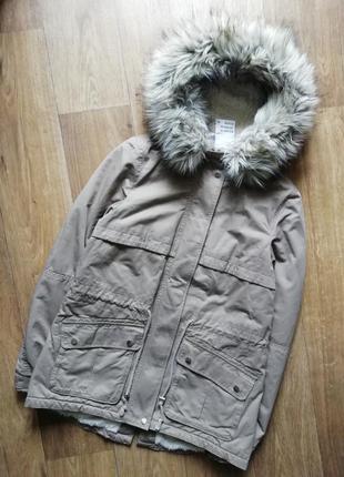 H&m стильная парка, куртка, курточка, еврозима