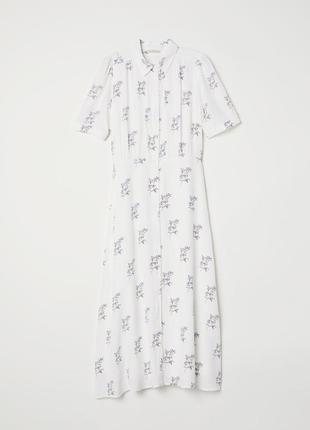 Красивенное длинное летнее платье h&m, р. xxs (32 евро - 38 наш)